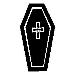 ハロウィーンの墓の無料アイコンをクロスします。