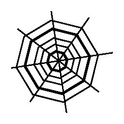 ハロウィーン八角形クモの web 無料アイコン