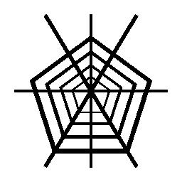 ハロウィーン クモの web 形状無料のアイコン
