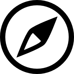 円形コンパス方位無料アイコン