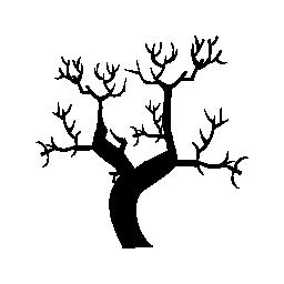冬の木の葉無料アイコンなし