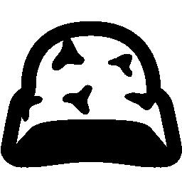 迷彩無料アイコンとヘルメット