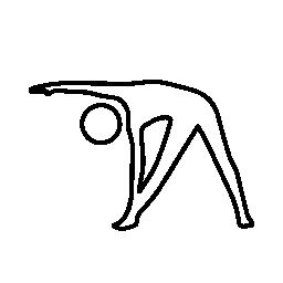 ストレッチ姿勢、身体トレーニング無料アイコン