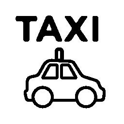 タクシー交通機関の無料アイコン
