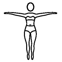 立っている女性無料アイコンのヨガ姿勢