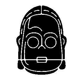 無料ベクトルのアイコンの最大のデータベース無料ベクトルのアイコンの最大のデータベーススターウォーズ ロボット顔無料アイコン
