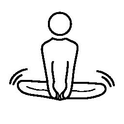 体操座り姿勢無料アイコン