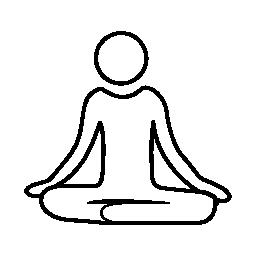 瞑想ヨガ姿勢無料アイコン