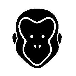 猿の顔無料アイコン