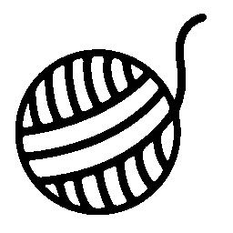 無料アイコンの糸のボール