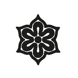 日本の無料のアイコンから六枚の花弁の花