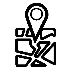 インターフェイス geolocalization 無料のアイコンを Geolocated 場所シンボル