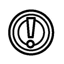 警告のサイン、円無料アイコンで感嘆符