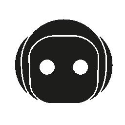 2 つのドットと丸みを帯びた形状の無料アイコンを含む日本のシンボル