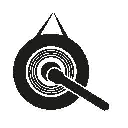 ゴング音楽日本楽器無料アイコン