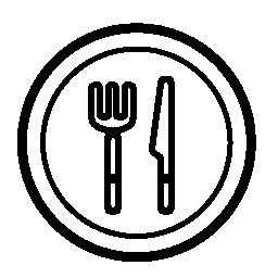 皿、ナイフとフォークの無料アイコン
