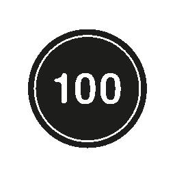 制限速度 100 無料アイコン