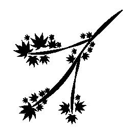 1 つの分岐と葉無料アイコン