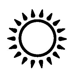 太陽光線の無料アイコン