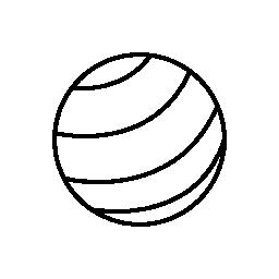 ストライプ ボール無料アイコン