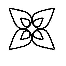 花 4 花びら無料アイコン