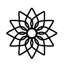 幾何学的な花の無料アイコン