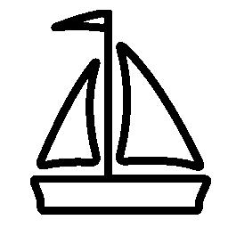 セーリング船無料アイコン
