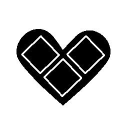 正方形の無料アイコンと心フォーム