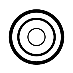 ターゲット白いダーツボード無料アイコン