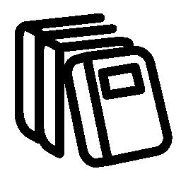 3 冊の本の無料のアイコン
