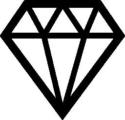 貴重なダイヤモンドの宝石の無料のアイコン