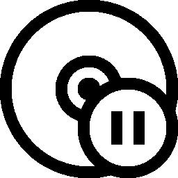 Cd 一時停止ボタン無料アイコン