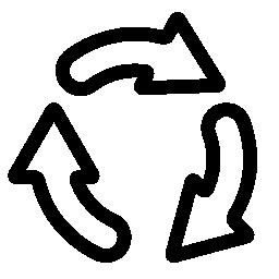 リサイクル矢印サイクル無料アイコン