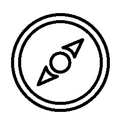 コンパスの針ガイド無料アイコン