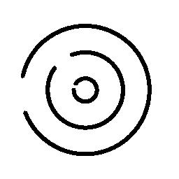 幾何学的な円のポイント無料のアイコン