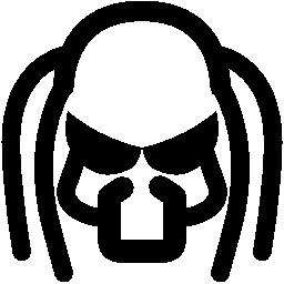 プレデターのマスクの無料のアイコン