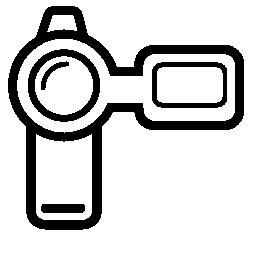 カメラのデジタル映画の無料のアイコン