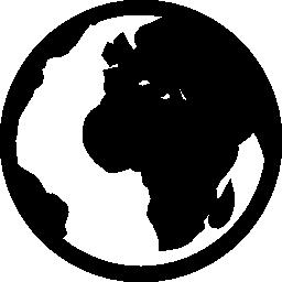 世界の輪郭の無料アイコン