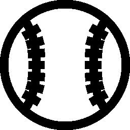 無料アイコンの野球のボール