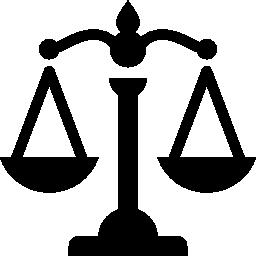 スケールを表す正義無料アイコン