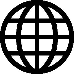 グリッド無料アイコンと地球