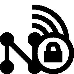 ワイヤレス ネットワークのセキュリティの無料のアイコン