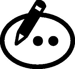 編集コメント インタ フェース シンボル無料アイコン