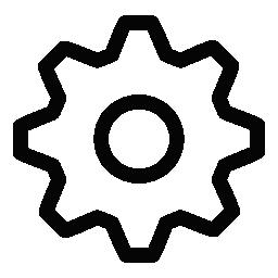 ギア シンボル無料アイコンを設定