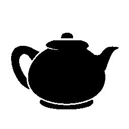 ティーポット黒い図形無料アイコン