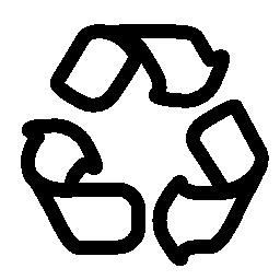 無料のアイコンを 3 つの矢印の三角形の輪郭を描かれたシンボルをリサイクルします。