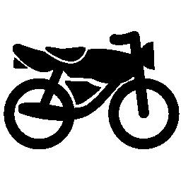 黒いバイク シルエット無料アイコン