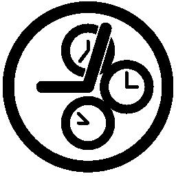 時計無料アイコン内の 3 つの時計