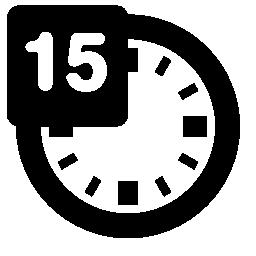 時計無料アイコンで 15 分