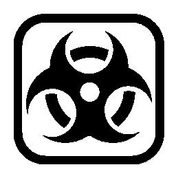 有毒な警告サイン無料アイコン